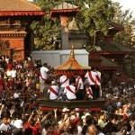 Chariot pulling during Indrajatra Festival