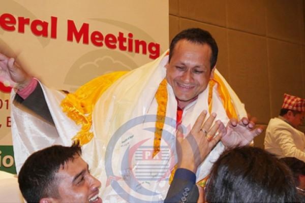 Nava Raj Dahal elected the 18th President of Trekking Agencies' Association of Nepal (TAAN)