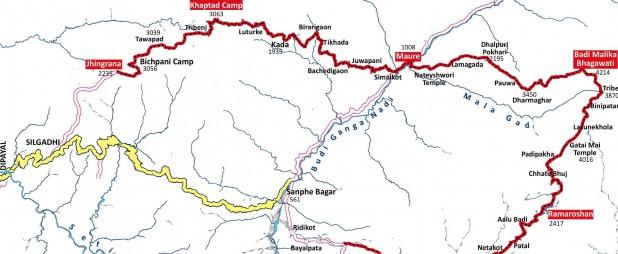 Badimalika Culture Trek Map