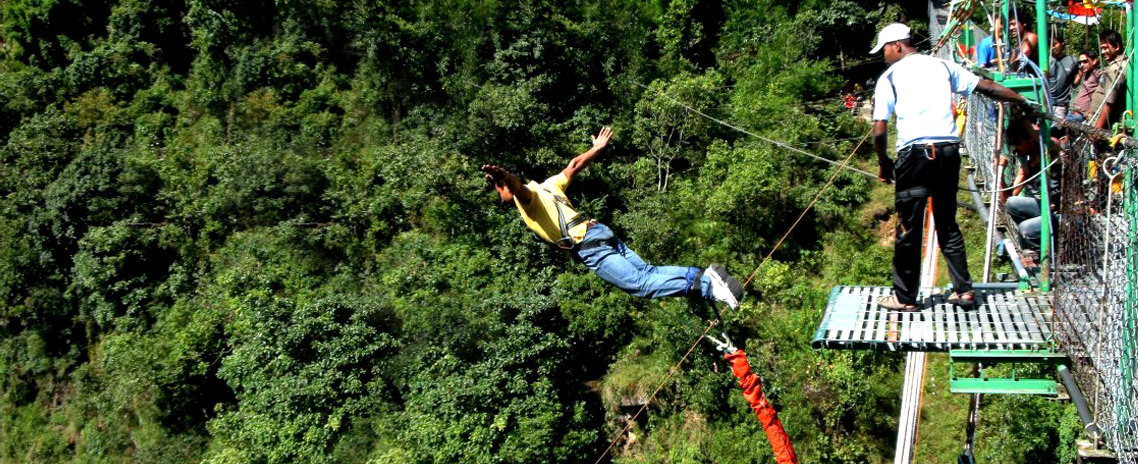 The Ultimate Thrill !!  Bungy Jump over Bhotekosi River