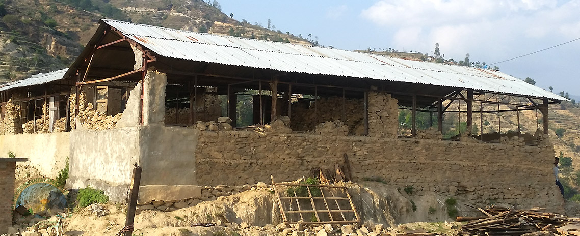 School Building in Sindhupalchowk destroyed by 25April Earthquake