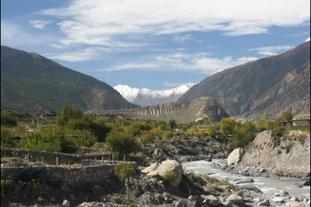 Jomsom Village, meeting point for annapurna trekking