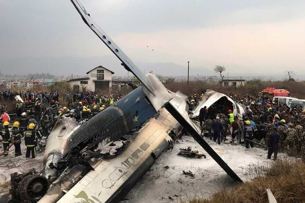 Bangladeshi airline US-Bangla crash landed at Tribhuvan International Airport Kathmandu killing at least 49 people and injuring 22
