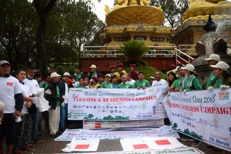Cleaning & Awareness Campaign organized by TAAN