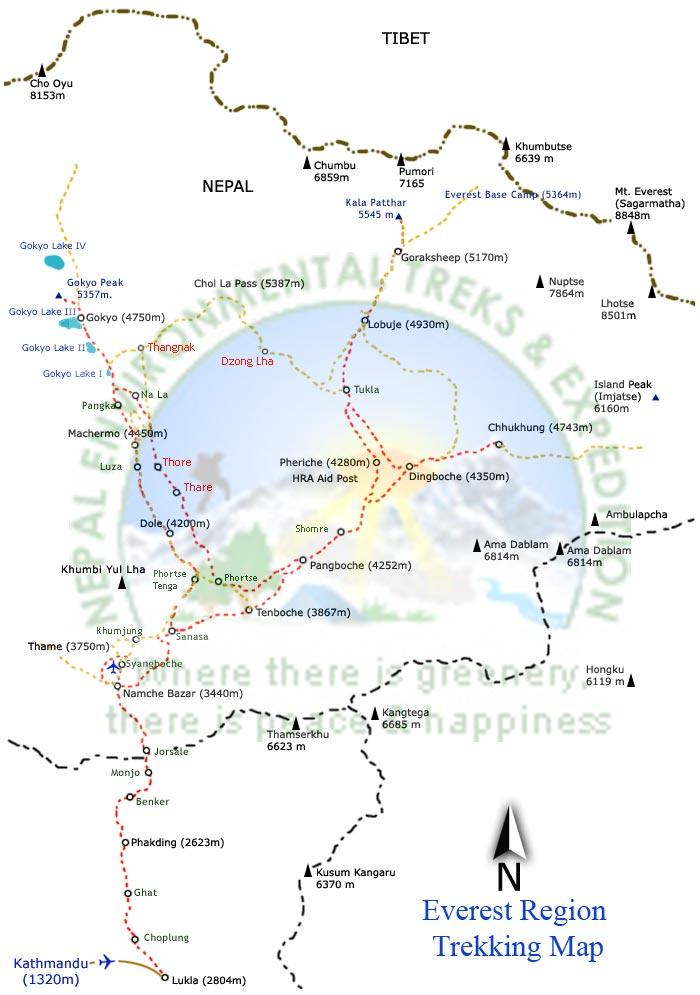 Everest Express Trek Map