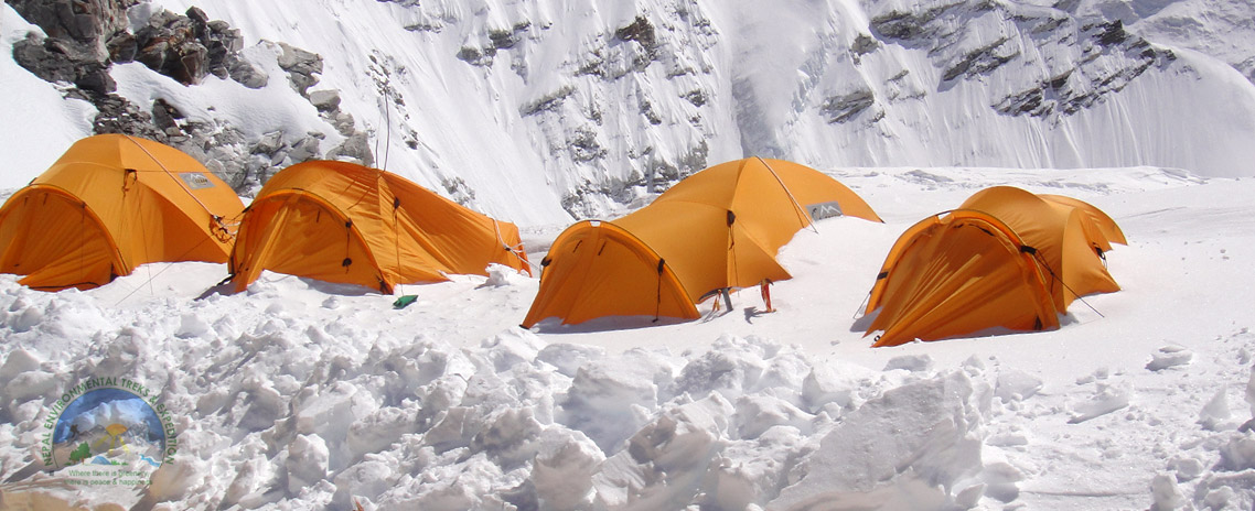 Camping during Cho Oyu Expedition