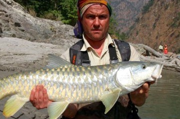 Fishing in Ankhu Khola