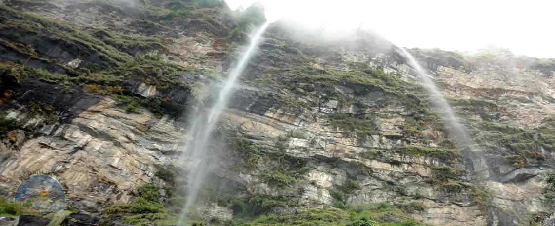 Ganga Jamuna, Twin Waterfall