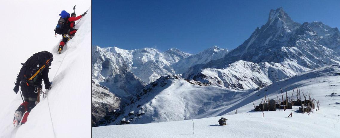 Climbing in Mardi Himal