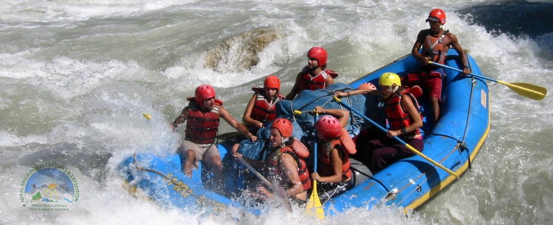 Rafting in Sunkoshi River